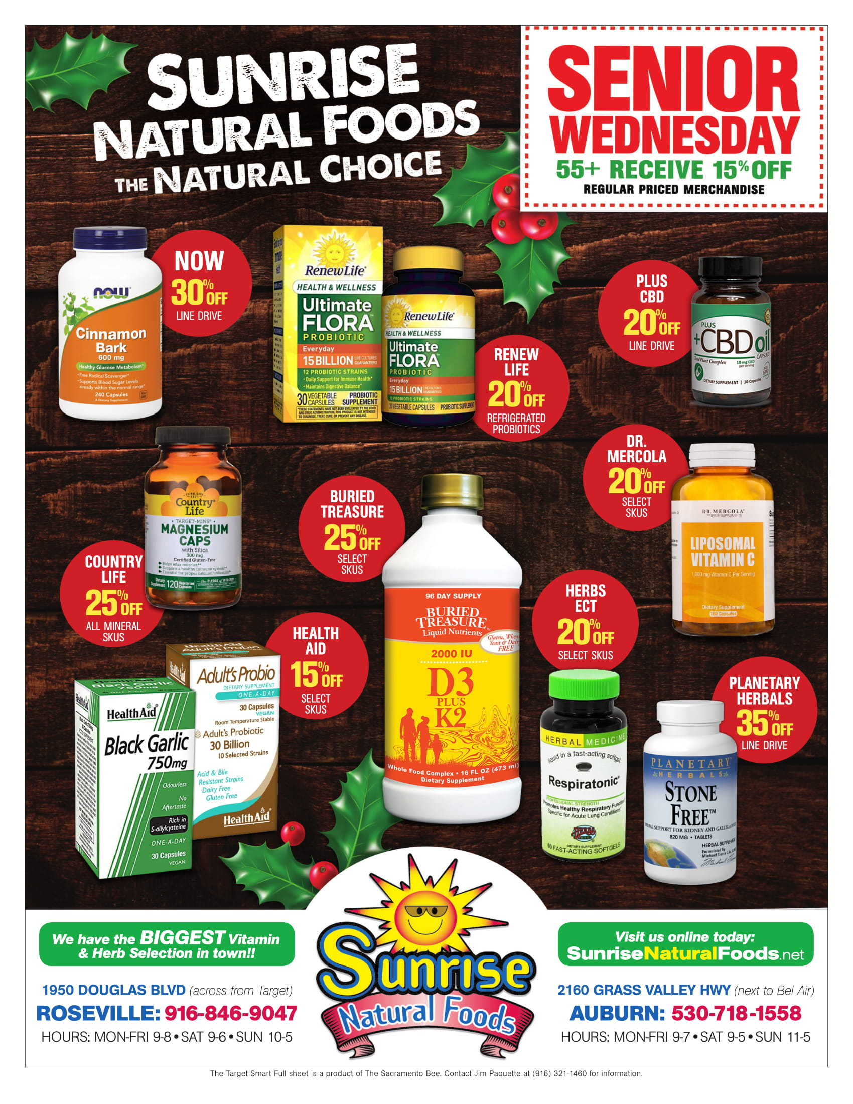 Sunrise Natural Foods December 2018 Ad Page 2